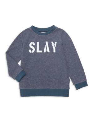 Little Girl's & Girl's Slay Heathered Sweatshirt