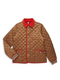 버버리 보이즈 컬포드 퀼팅 자켓 - 브론즈Burberry Little Boys & Boys KB6 Culford Quilted Jacket,Bronze