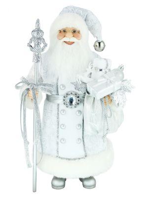 Silver Santa Figurine