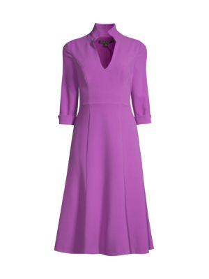 Kensington Stand-Collar Fit & Flare Dress