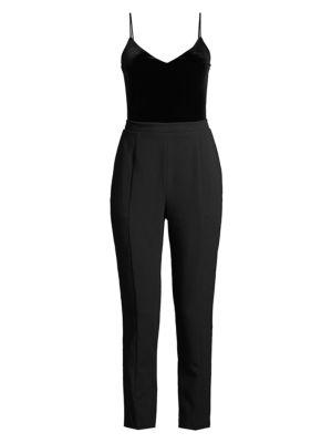 Teagun Tailored Velvet Jumpsuit