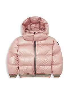 버버리 걸즈 조쉬아 패딩 - 라벤더 핑크 Burberry Little Girls & Girls KG6 Josiah Nylon Puffer,Lavender Pink