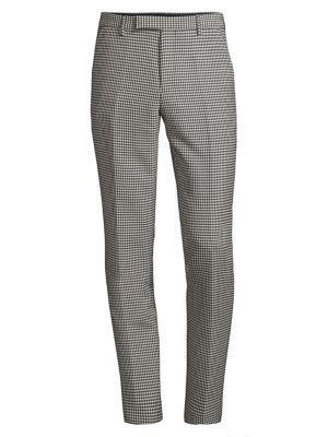Houndstooth Virgin Wool-Blend Trousers