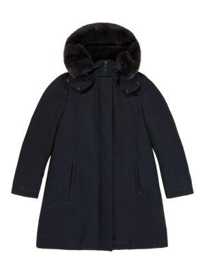 Bow Bridge Fur Trim Jacket