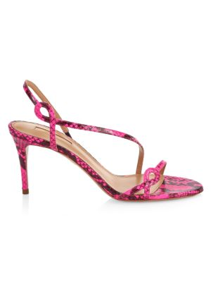 Serpentine Snakeskin Sandals