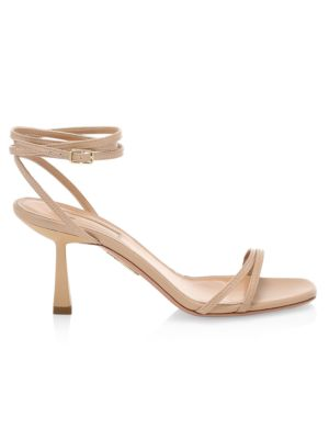 Isabel Square-Toe Leather Sandals