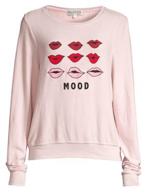 Baggy Beach Moody Lips Oversized Sweatshirt