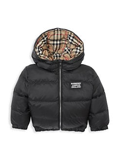버버리 베이비 아기 양면 패딩 - 블랙 Burberry Babys & Little Kids IB6 Rayan Reversible Down Jacket,Black