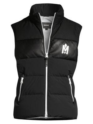 Allister Leather-Trim Stretch-Nylon Puffer Vest