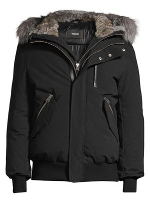 Dixon Fox & Rabbit Fur-Trimmed Bomber Jacket