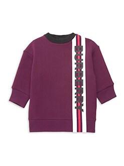 버버리 여아용 스웨터 원피스 Burberry Babys & Little Girls IG2 Letisha Logo Sweater Dress,Burgundy
