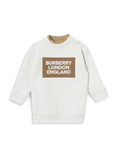버버리 여아용 원피스 Burberry Babys & Little Girls IG2 Fabbio Dress,White Melange