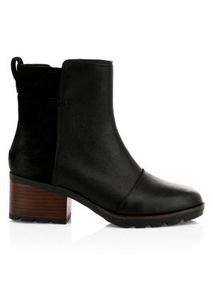 Cate Waterproof Leather Booties