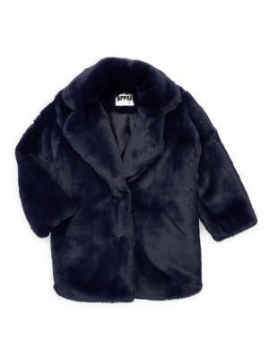 Little Girl's & Girl's Sophie Faux Fur Coat
