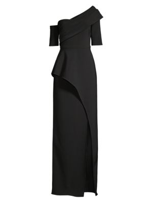 Asymmetric Column Evening Gown