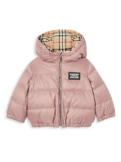 버버리 여아용 양면 패딩 - 라벤더 핑크 Burberry Babys & Little Girls IG6 Rayan Reversible Down Jacket,Lavender Pink