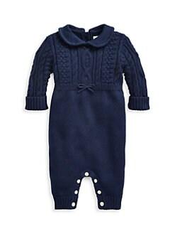 폴로 랄프로렌 남아용 아기 커버올 우주복 Polo Ralph Lauren Baby Boys Cable-Knit Combo Coverall,French Navy
