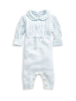 Baby Boy's Cable-Knit Combo Coverall