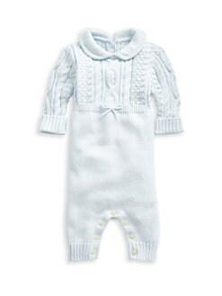 폴로 랄프로렌 남아용 아기 커버올 우주복 Polo Ralph Lauren Baby Boys Cable-Knit Combo Coverall,Beryl Blue