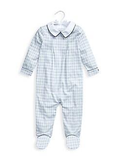 폴로 랄프로렌 여아용 아기 우주복 Polo Ralph Lauren Baby Boys Checker Footie,Blue