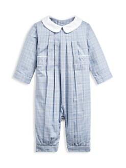 폴로 랄프로렌 남아용 아기 커버올 우주복 Polo Ralph Lauren Baby Boys Plaid Cotton Coveralls,Multi