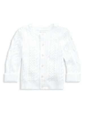 Baby Boy's Cotton Cabled Cardigan