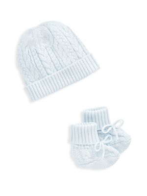Baby Boy's 2-Piece Knit Beanie & Booties Set