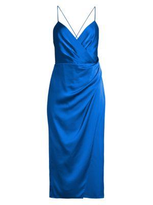 Prime Satin Wrap-Style Dress