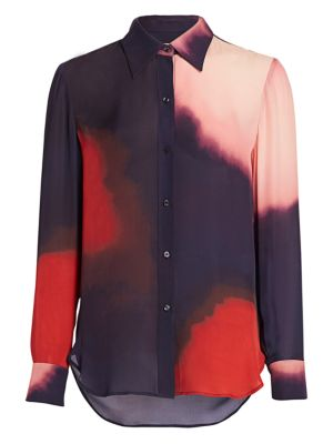 Jayne Tie-Dye Silk Shirt