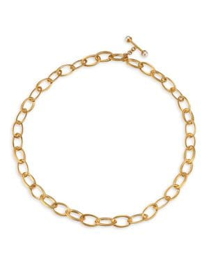 Origami 22K Yellow Goldplated & 6MM Freshwater Pearl Infinity Chain Necklace