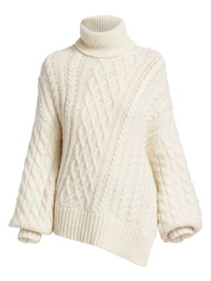 Nevelson Cable Knit Turtleneck Sweater