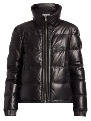 Denver Leather Quilted Puff Jacket