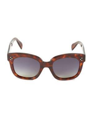 54MM Smoke Polarized Square Sunglasses