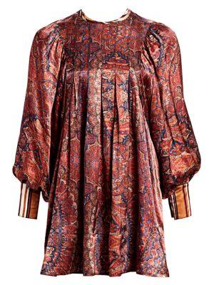 Desirè Paisley Silk Mini Dress