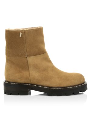 Haysel Shearling-Lined Suede Ankle Boots