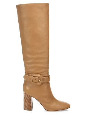 Buckle Tall Leather Boots