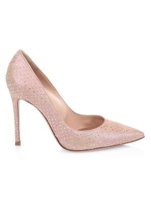 Gianvito Embellished Suede Pumps