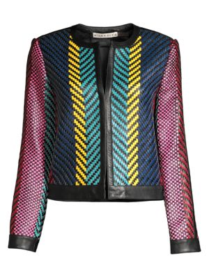 Kidman Woven Leather Jacket