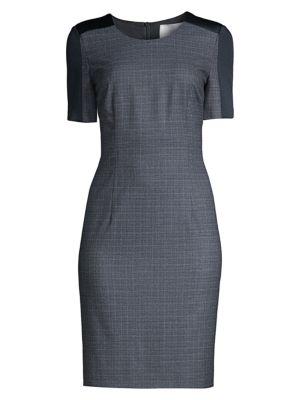 Dirusa Stretch Wool Sheath Dress