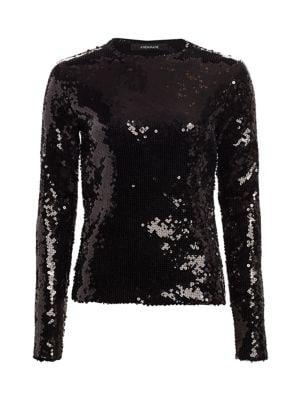 Bettie Sequin Long-Sleeve Top
