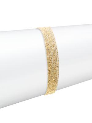 Flare 14K Yellow Gold Chain Line Bracelet
