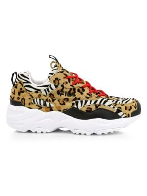 Ray Tracer Patchwork Animal-Print Sneakers