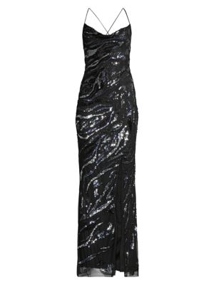 Shayna Sequin Column Gown