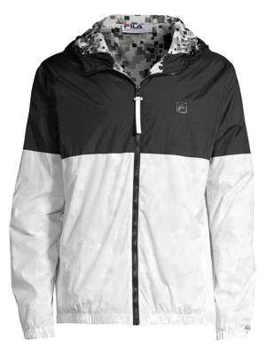 Packable Two-Tone Nylon Windbreaker