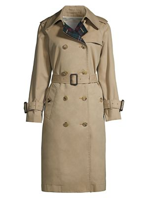 Muirkirk Wool Plaid & Cotton Twill Trench Coat
