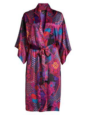 Purple Empress Floral Print Wrap