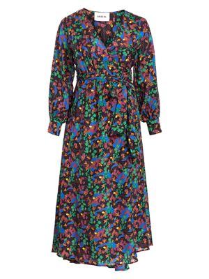 Floral Cotton Maxi Wrap Dress
