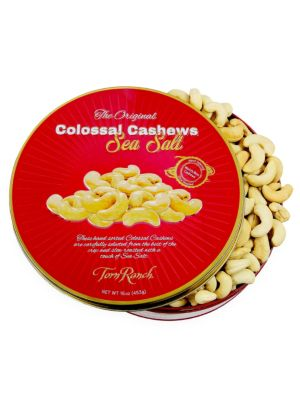 Holiday Colossal Cashews Embossed Tin