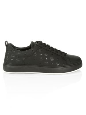 Logo Group M Leather Sneakers