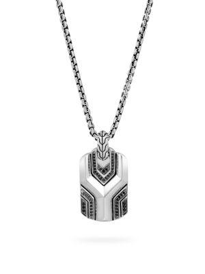Asli Classic Chain Gemstone Dog Tag Necklace